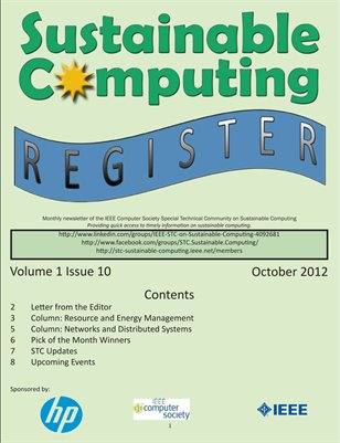 Sustainable Computing Register - October 2012