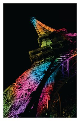 Rainbow Eiffel Tower (Poster)
