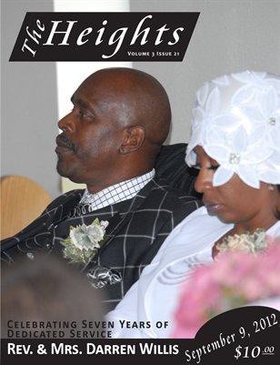 Volume 3 Issue 21 - Celebrating Seven Years Service Rev. & Mrs. Darren Willis