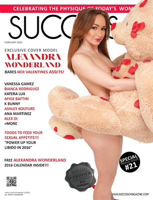 Succoso Magazine Double Issue #21 featuring Cover Model Alexandra Wonderland