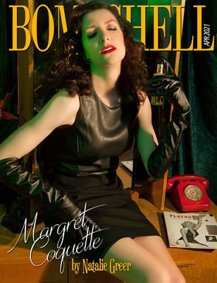 BOMBSHELL Magazine April 2021 BOOK 2 - Margret Coquette Cover