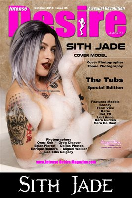 INTENSE DESIRE MAGAZINE COVER POSTER - SPECIAL EDITION - Cover Model Sith Jade - October 2018