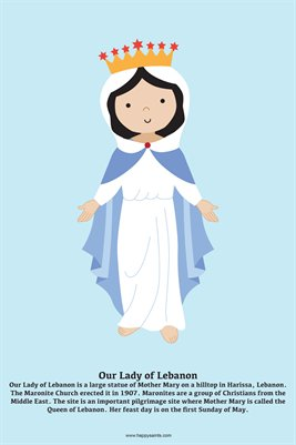 Happy Saints Our Lady of Lebanon Poster