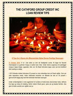 The Cathford Group Credit Inc Loan Review Tips: Spore Din Økonomiske Helse