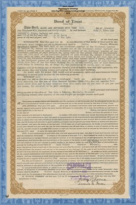 1928 DEED OF TRUST, JOHN P. & LAVINIA E. FOREE TO W.B. SMITH