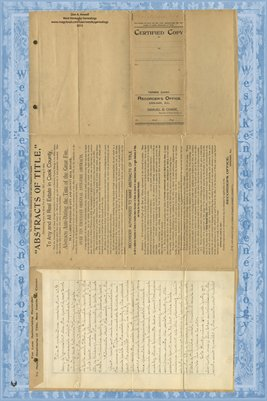 Indenture made Nov. 28, 1892 between Winifred Nash & Johannah James of Cook County, Illinois