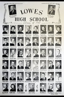 Class of 1960, Lowes High School, Graves County, Kentucky