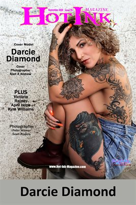 HOT INK MAGAZINE COVER POSTER - Cover Model Darcie Diamond - September 2020