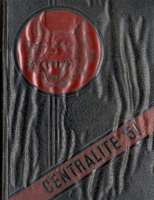 1951 Centralite Yearbook, Central High School, Knox County, Tennessee