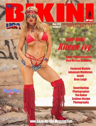 BIKINI INC USA MAGAZINE - Cover Model Kileen Ivy - May 2018