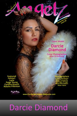 ENCHANTED ANGELZ MAGAZINE COVER POSTER - Cover Model Darcie Diamond - November 2020
