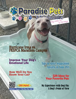Paradise Pets Magazine, Key West, FL  Vol. 3 Issue 4 Oct-Nov-Dec 2017