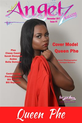 ENCHANTED ANGELZ MAGAZINE COVER POSTER - Cover Model Queen Phe - November 2017