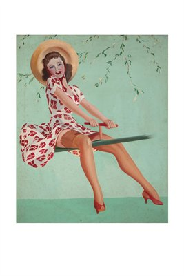 Pin-Up Classic on a Teeter Totter