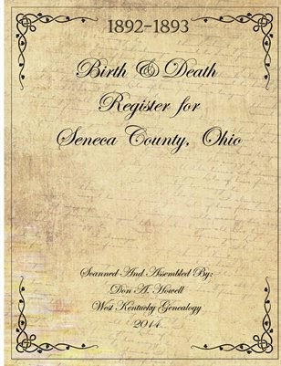 1892-1893 Birth & Death Records for Seneca County, Ohio
