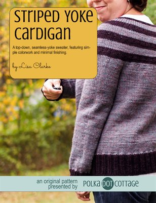 Striped Yoke Cardigan Knitting Pattern