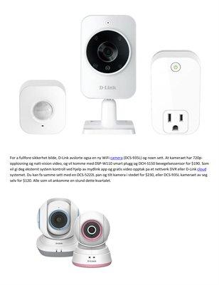 Home Security Corliss Group Experts - D-Link onsker a invadere hjemme med sikkerhet kameraer