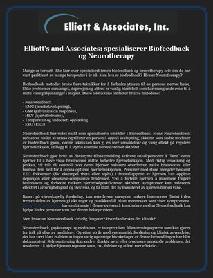 Elliott's and Associates: spesialiserer Biofeedback og Neurotherapy