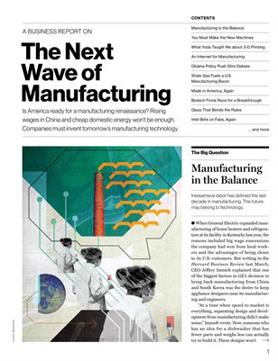 The Next  Wave of  Manufacturing