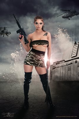 Army Babe Poster