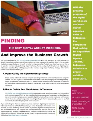 Finding the Best Digital Agency Indonesia and Improve the Business Growth