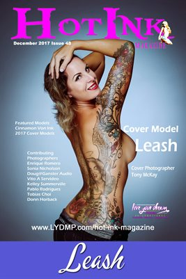HOT INK MAGAZINE COVER POSTER- Cover Model Leash - December 2017