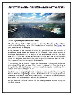 Galveston Capital Tourism and Marketing Texas