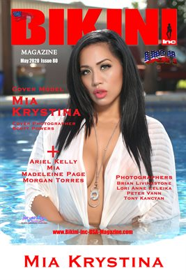 BIKINI INC USA MAGAZINE COVER POSTER - Cover Model Mia Krystina - May 2020