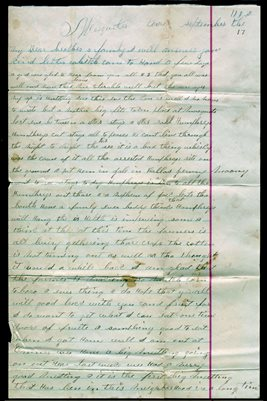 SEPT. 17, 1888 Mesquite, Texas letter from Genie Lemond to Jenny Dobbins
