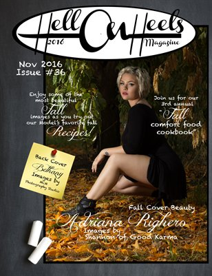 Hell on Heels Magazine November 2016 Issue 36 Fall Comfort Food Cookbook