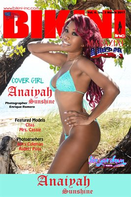 BIKINI INC USA MAGAZINE COVER POSTER - Cover Girl Anaiyah Sunshine - March 2017