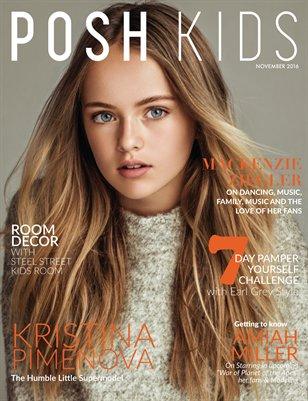 Posh Kids Magazine November 2016 -  Kristina Pimenova