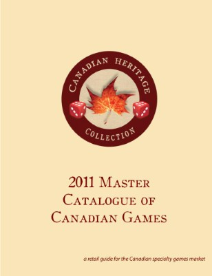 2011 Master Catalogue of Canadian Games