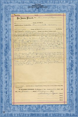 1886 MORTGAGE A.J. BYERS-AMANDA M. HOLLOWAY, ST. JOSEPH COUNTY, INDIANA