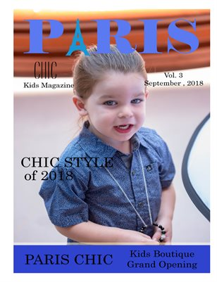 Paris Chic Kids Magazine September