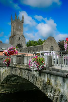 Blue Skies Over Ennis Friary, County Clare, Ireland (POSTER)