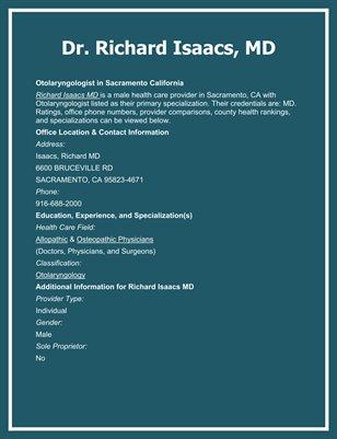 Dr. Richard Isaacs, MD