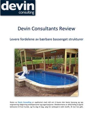 Devin Consultants Review: Levere fordelene av bærbare bassenget strukturer