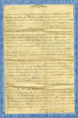 (PAGES 3-4) 1841 Deed, John Ray to B.E. Grey, Hickman County, Kentucky & Henry County, Tennessee