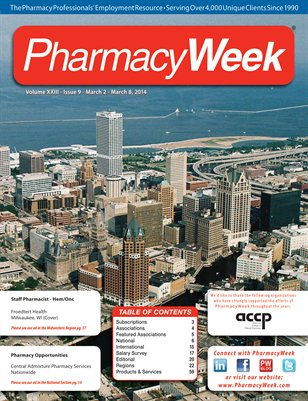 Pharmacy Week, Volume XXIII - Issue 9 - March 2 - March 8, 2014