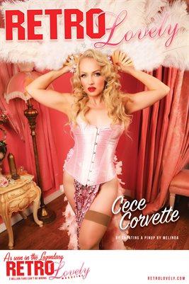 Cece Corvette Cover Poster RL132