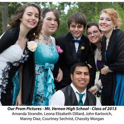 Our Prom Pictures - Mt. Vernon High School - Class of 2013