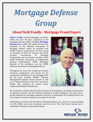 Mortgage Defense Group: About Neill Fendly - Mortgage Fraud Expert