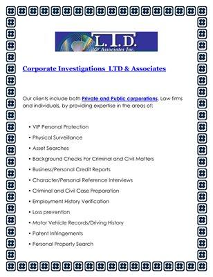 Corporate Investigations  LTD & Associates