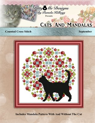 Cats And Mandalas September Cross Stitch Pattern