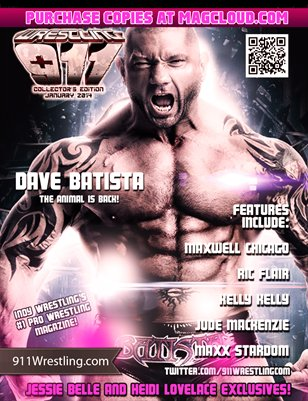 Batista Returns!  911Wrestling Magazine - January 2014