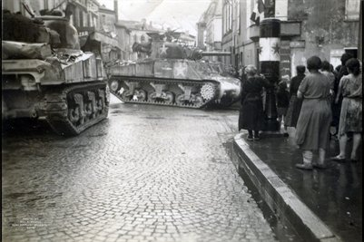 American Tanks in France in World War 2