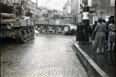 American Tanks in France in World War 2
