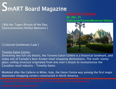 SmART Board Magazine Urban & Country [ SmARTie ] [ VancouverTorontoMontreal Edition ]