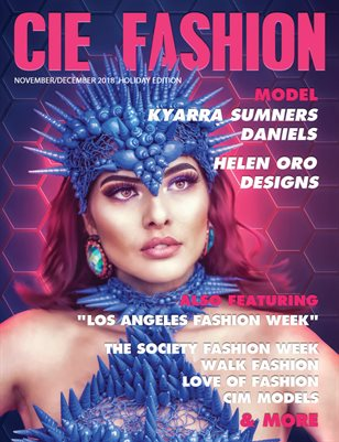 CIE Fashion Magazine Featuing Designer Helen Oro